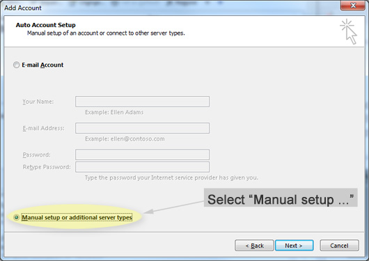 Outlook configuration 3